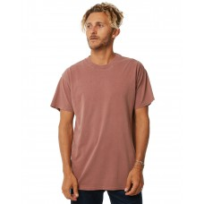 BILLABONG Premium Wave Wash Mens Tee WASHED BRICK EEUQJVZ
