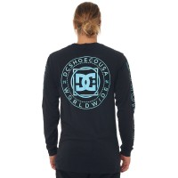 DC SHOES Mens Endless Fronter Ls BLACK Crew neckline  OTZPJZD