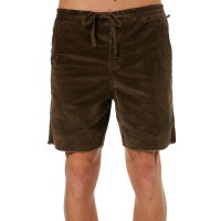 THE CRITICAL SLIDE SOCIETY Mr Lazy Mens Cord Short CHOCOLATE Super soft stretch construction  XCJSVTV