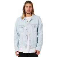 DR DENIM Dwight Mens Denim Jacket SUPERLIGHT Neck Line Collared  OBJXQZC
