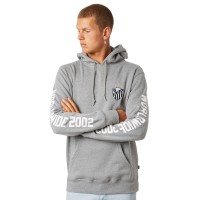 HUF Wc Defender Mens Pullover HEATHER GREY Embroidered logo patch to chest  UFRBOHP
