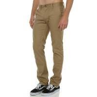 BRIXTON Reserve Mens Chino Pant KHAKI Zip fly with button closure  OLBRQTK