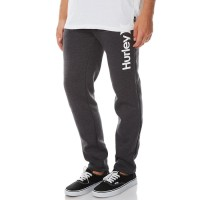 HURLEY Surf Club One And Only Mens Track Pant HEATHER BLACK Elastic waist with drawcord  YAEFDXK