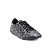 Men Franco Leone Black & Grey Sneakers MP000000001684953 PZPZMJC