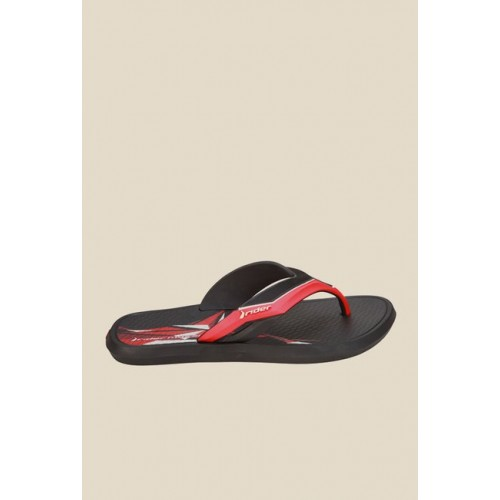 Men Rider Mosaic Ad Black & Red Flip Flops MP000000000247818 DYBOLUN