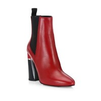 31 Phillip Lim Drum Leather Chelsea Boots Rouge 0400099209886 WEJMLGS