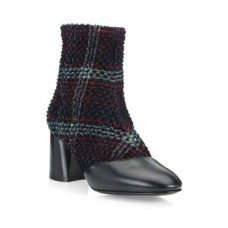 31 Phillip Lim Drum Tweed & Leather Heeled Ankle Boots Multi 0400099210055 MALNODQ