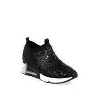 Ash Lightning Star Sequined Sneakers Black 0400097402941 IIHBRXD