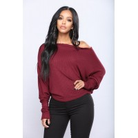 Women Off With His Head Sweater - Burgundy QMQPSLK