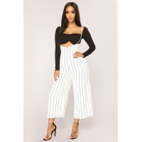 Women Thaleia Pants - White/Black GEKSMYH